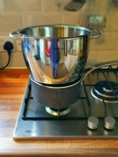Set up a double boiler and set bowl on top